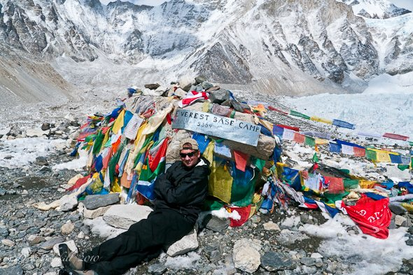 Dave relaxing at Everest Base Camp