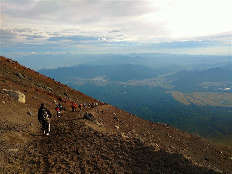 fuji trekking views