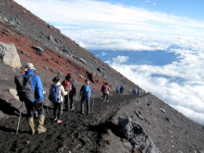 mount fuji treks in the world