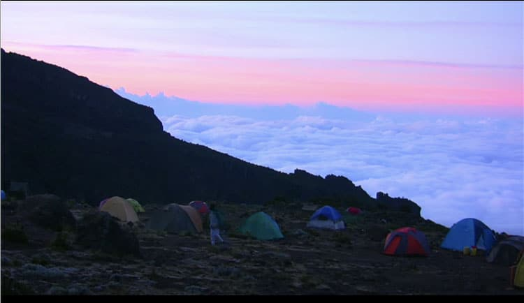 campsite on mount kilimanjaro