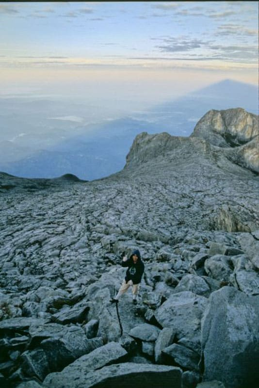 our guide on Mt Kinabalu