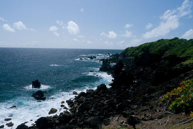 mount liamuiga volcano beach