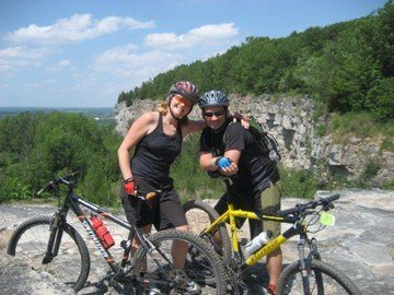 dave and deb cycling