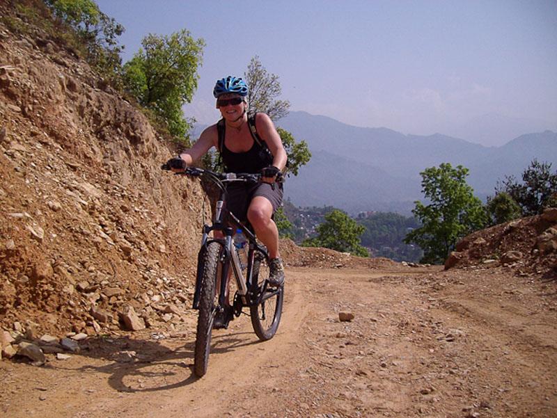 deb biking pokhara