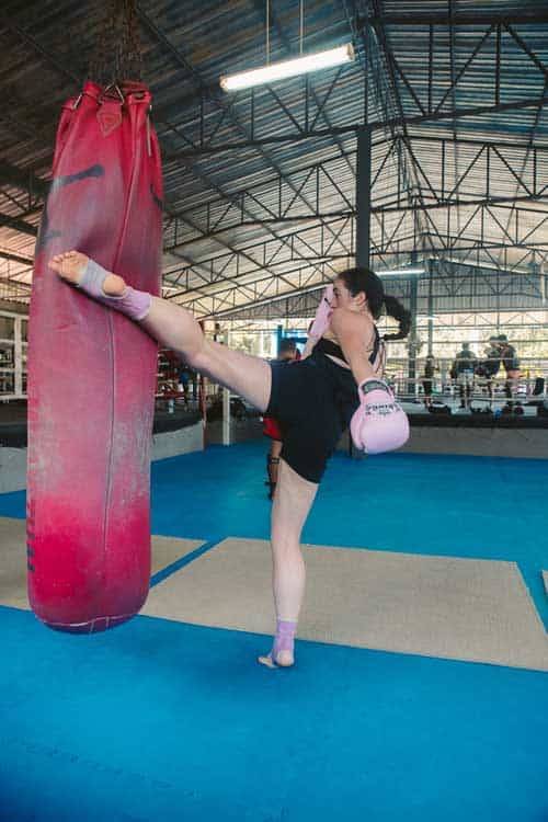 kickboxing at muay thai gym in thailand