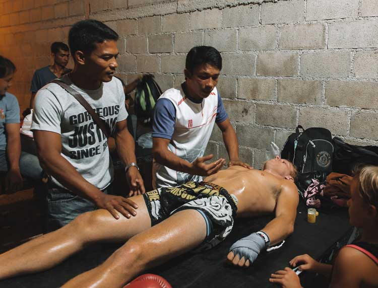 massage for muay thai tournament