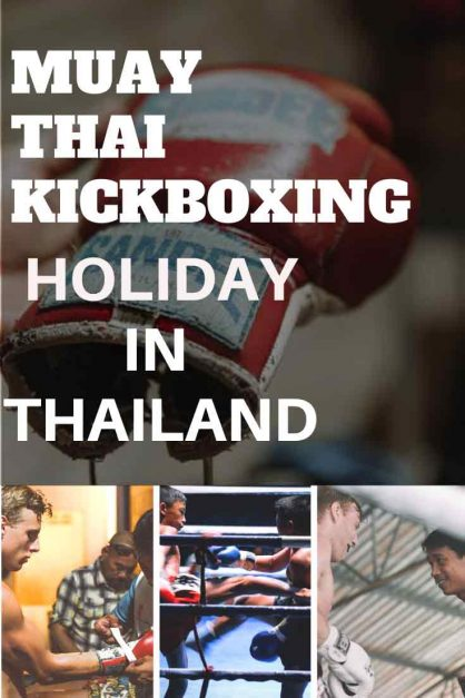 Muay thai kickboxing in thailand