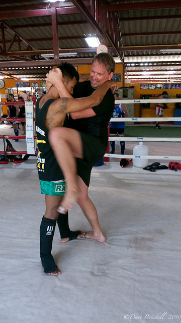 dave grappling while kickboxing in thailand