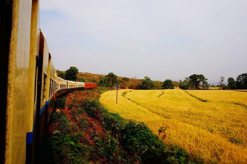 myanmar train travel country