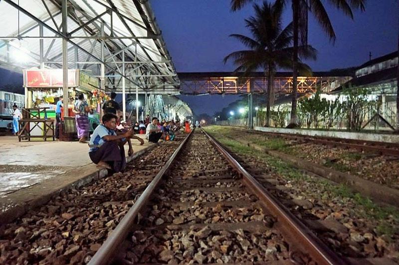 myanmar train travel tracks