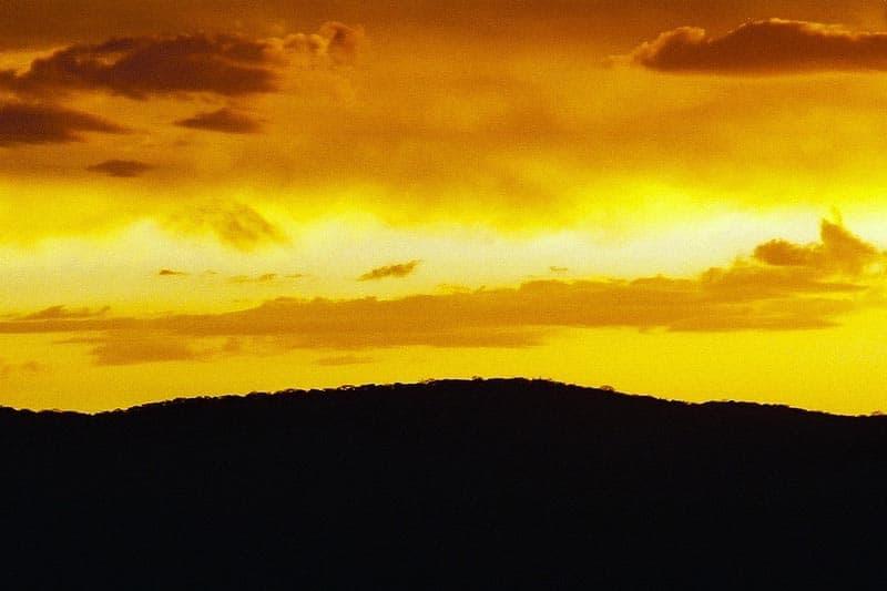 namibia travel sunset