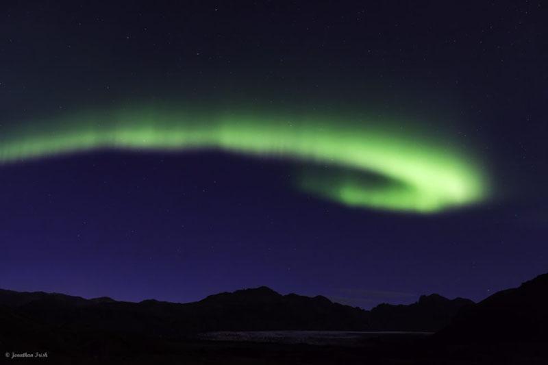 northern lights in reykjavik