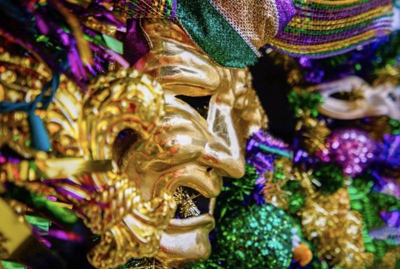 mardi gras festival masks new orleans