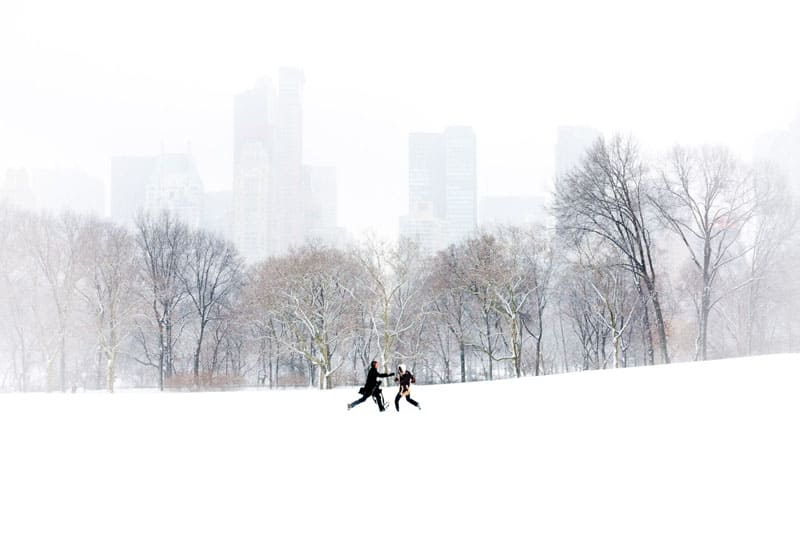 new york city photography snow