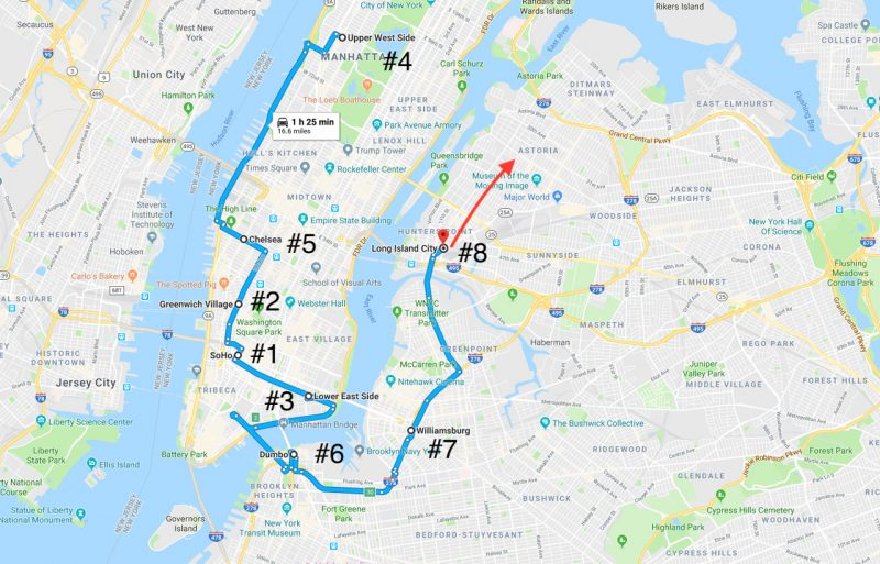 new york city neighborhoods map | where to stay