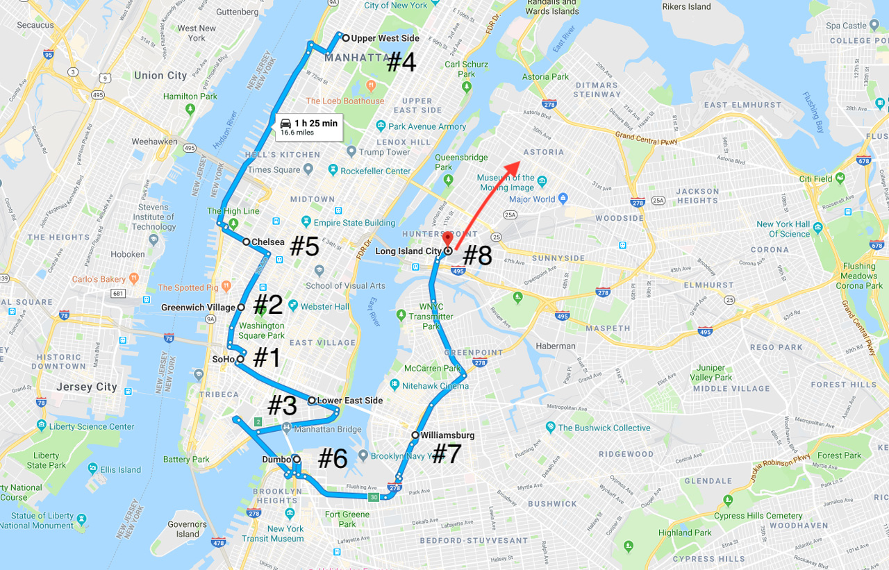 new york city map neighborhoods where to stay