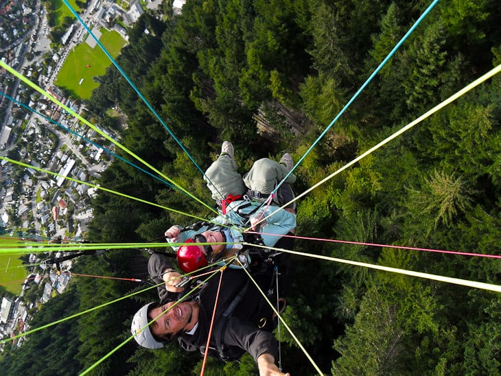 new zealand adventure tours paragliding
