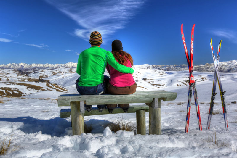 skiing break mountain