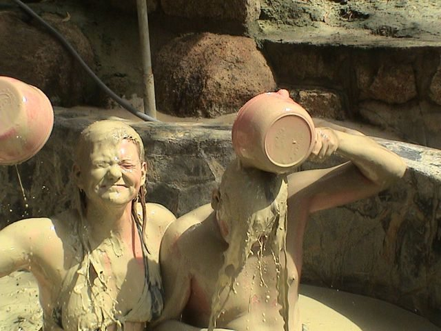 Nha Trang Mud Baths relax as a couple