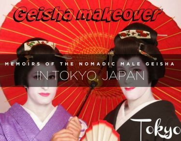 nomadic male geisha in Tokyo, Japan