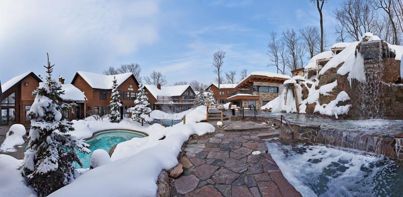 winter at nordik spa nature
