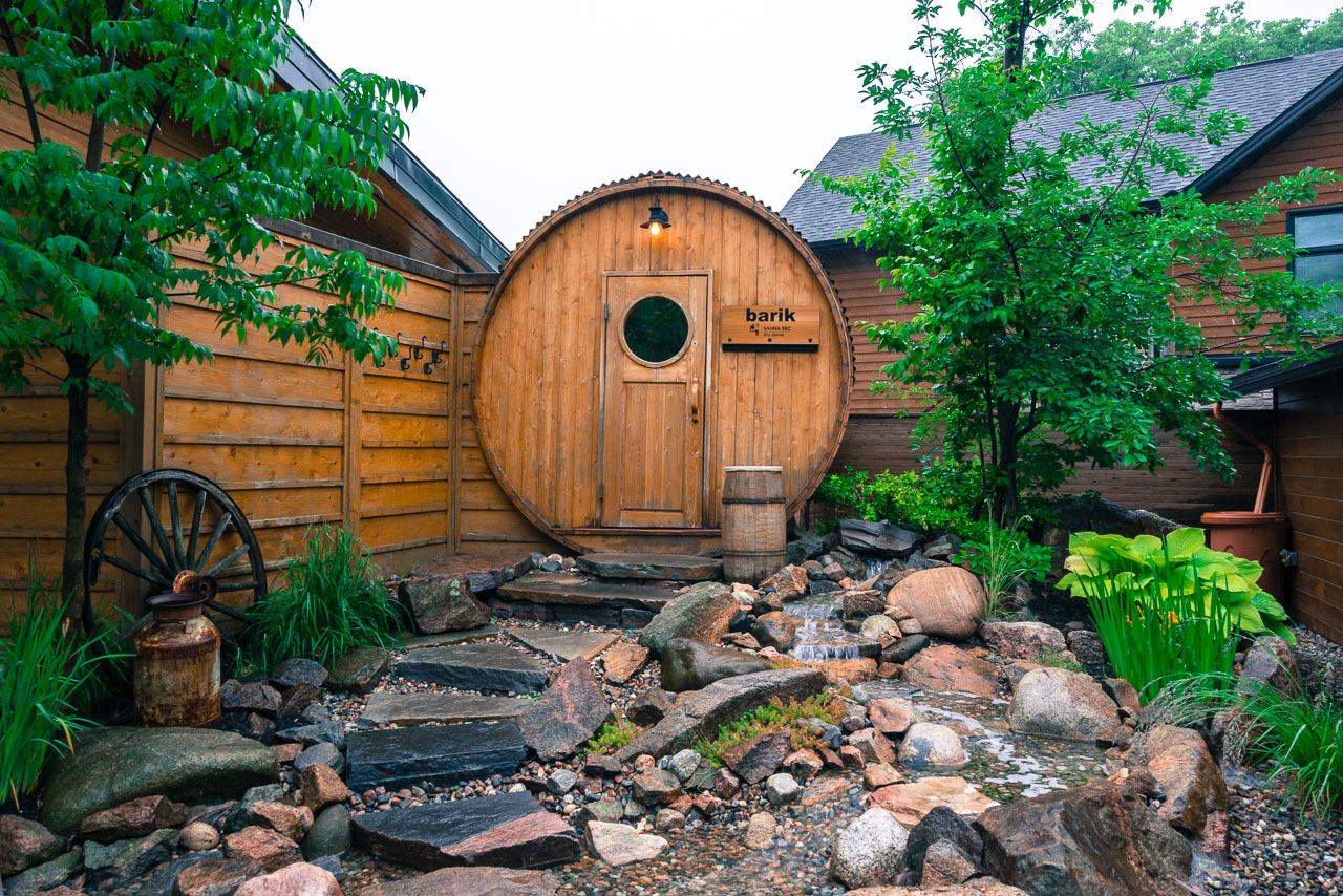 The Sauna in the Nordik Spa Ottawa