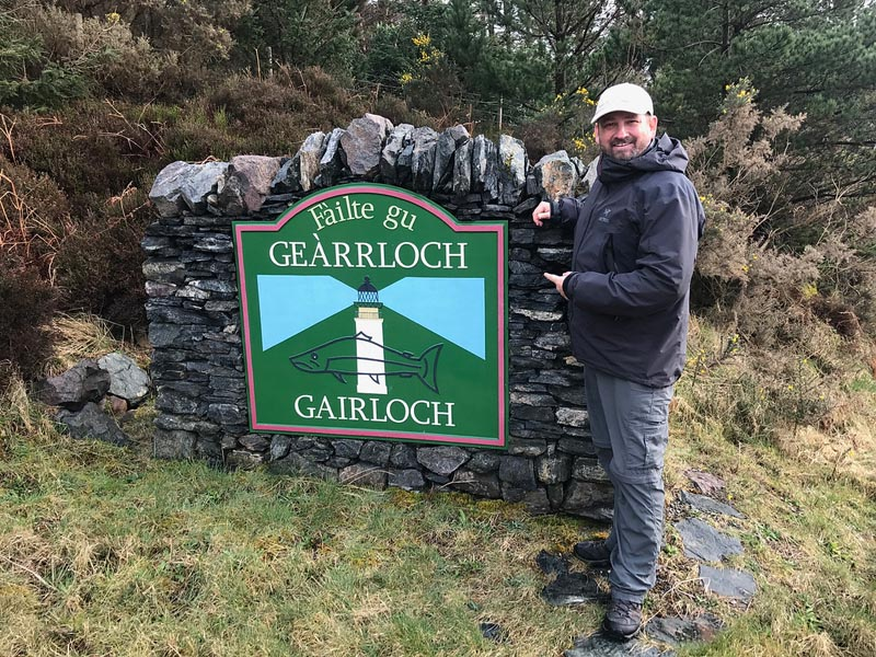 Gairloch sign Scotland