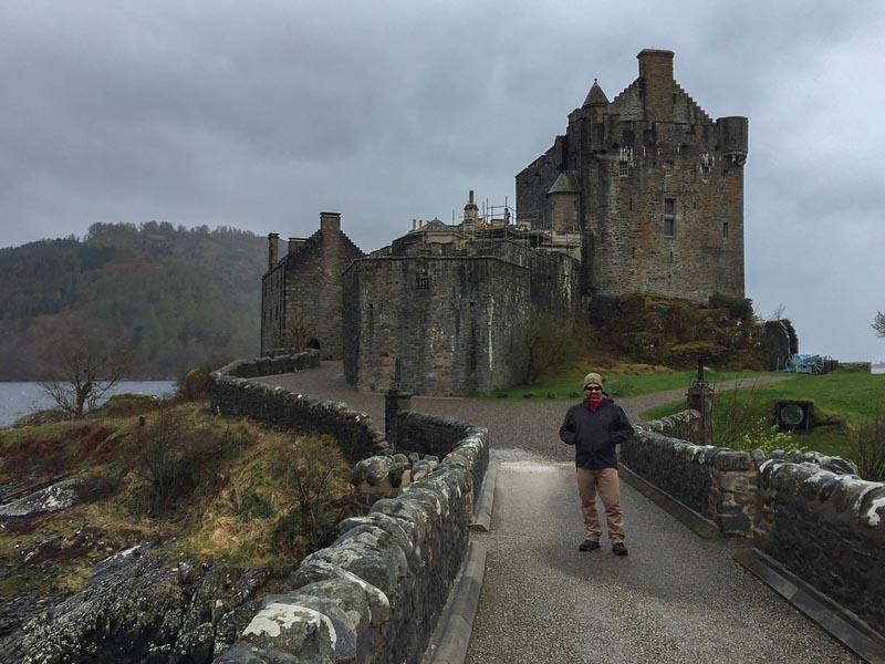Entrance Eilean Donan Castle Scotland