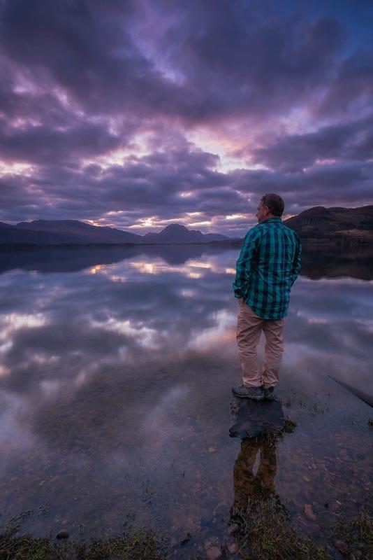 loch maree scotland sunrise