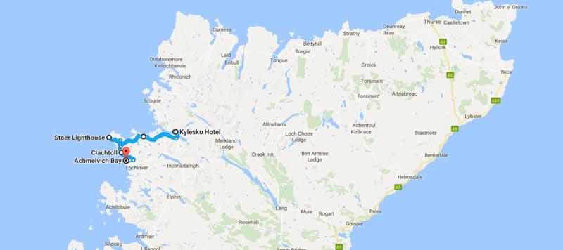 Kylesku map nc500