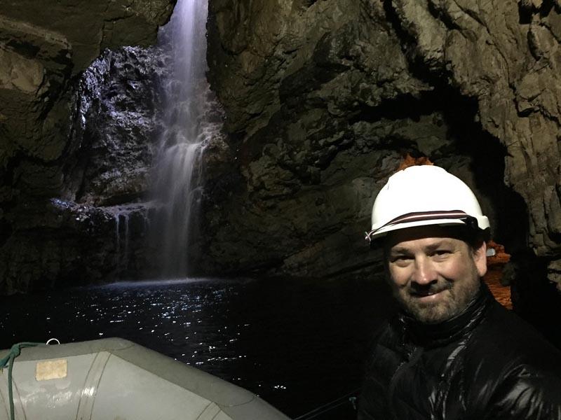 dave on smoo caves tour