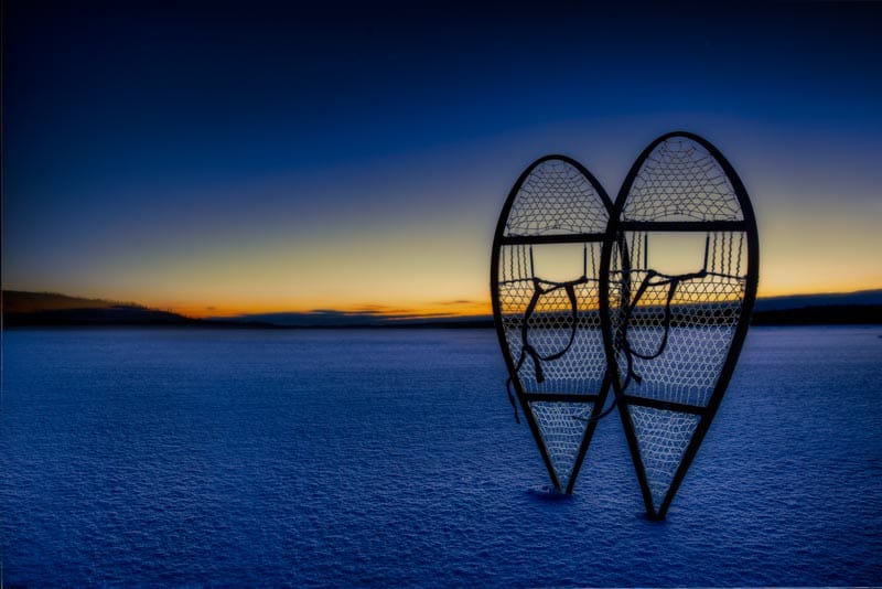snowshoes in north Canada