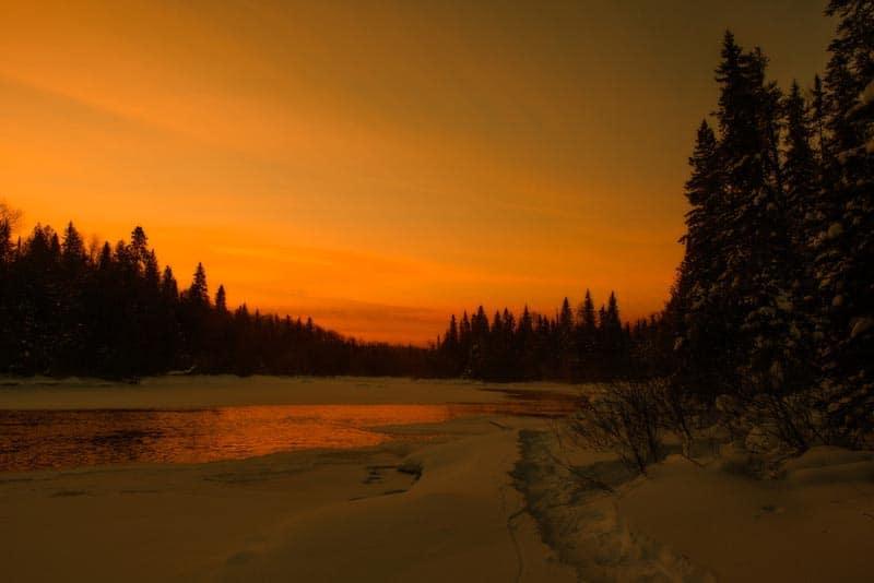 northern ontario sunset
