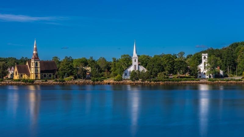 three churches mahone bay