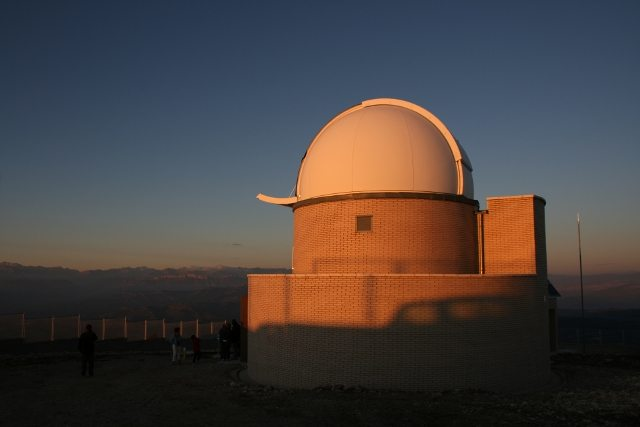 observatory at the astronomy park in Catalonia Spain