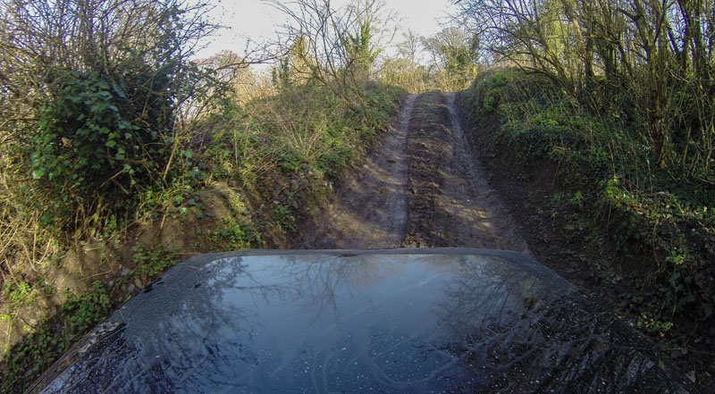 off road driving ireland hill