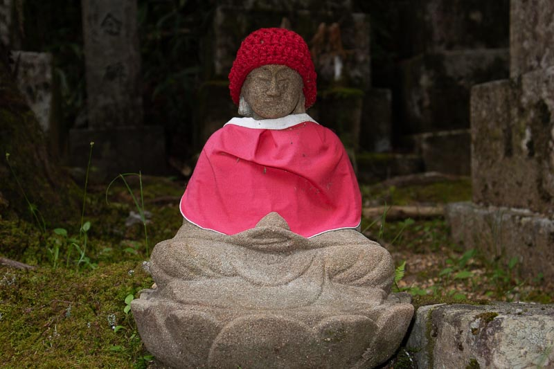 the lone jezu at koyasan