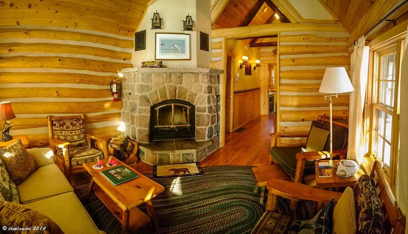 old fashioned winter lodge