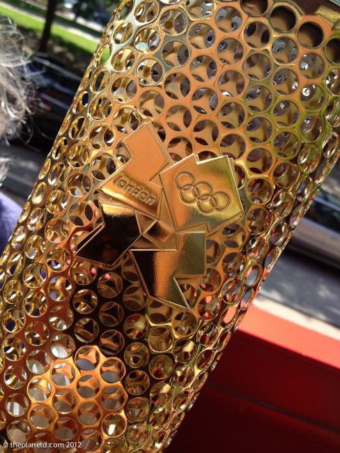 2012 olympics close up of Canada Torch