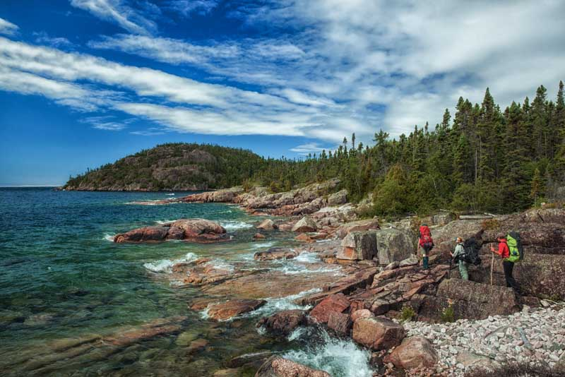 The Rugged north shore of Lake Superior.