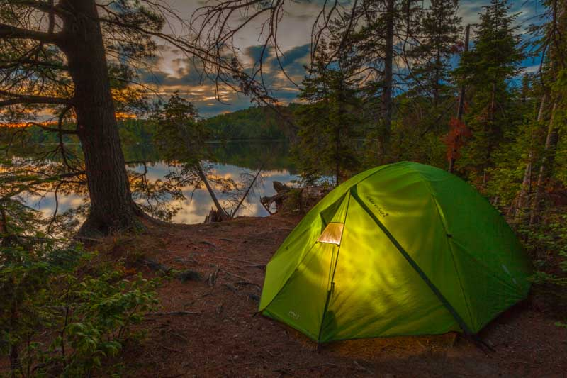 Camping in Algonquin Provincial Park