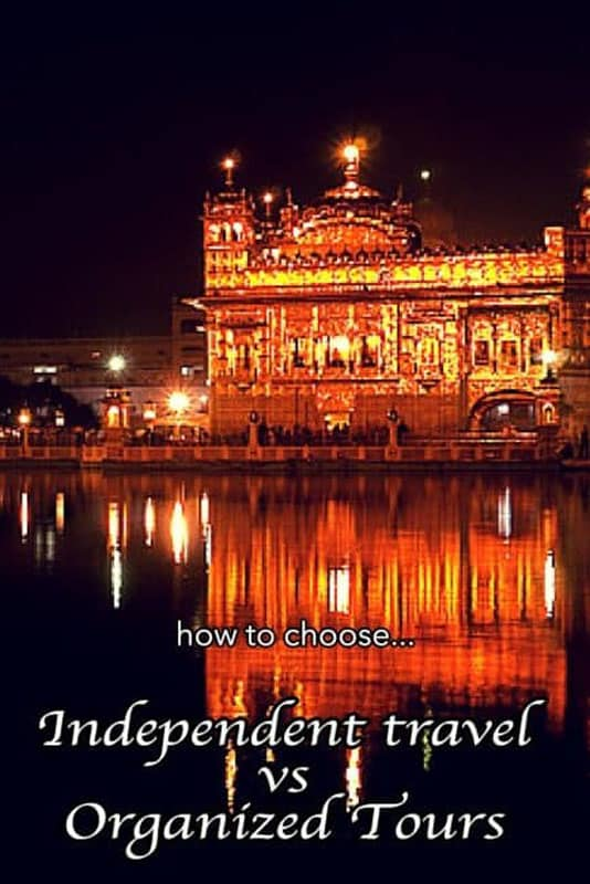 organized tours independent travel