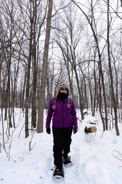 Snowshoe in Gatinau Ottawa Winter Attraction
