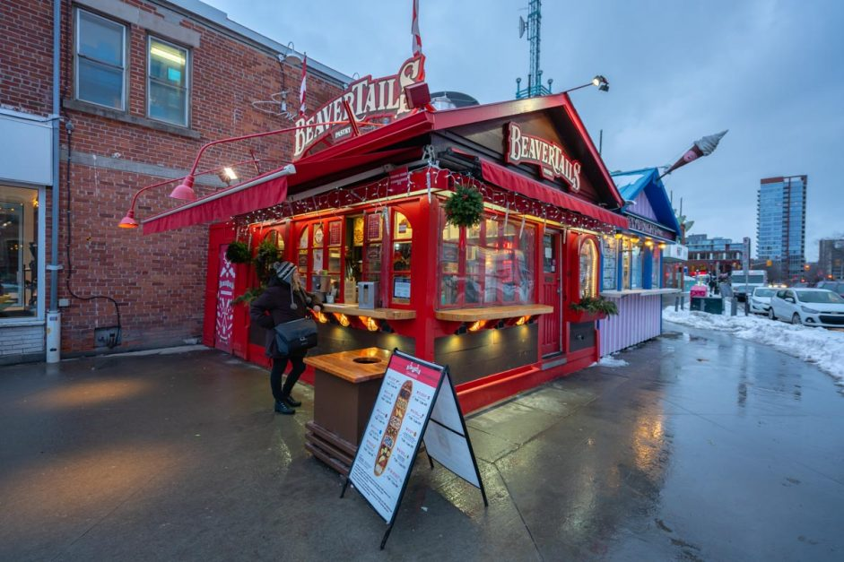 Beavertails food Ottawa in Winter