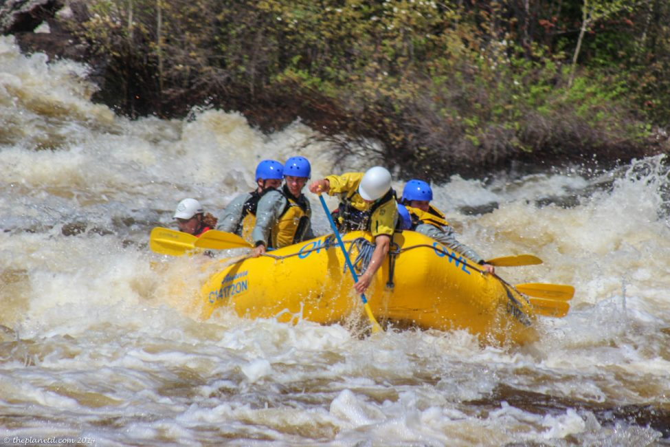 Rapids so big, it takes two guides to steer