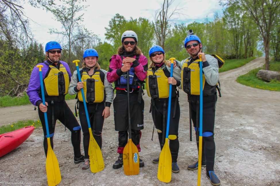 Our day two whitewater rafting team
