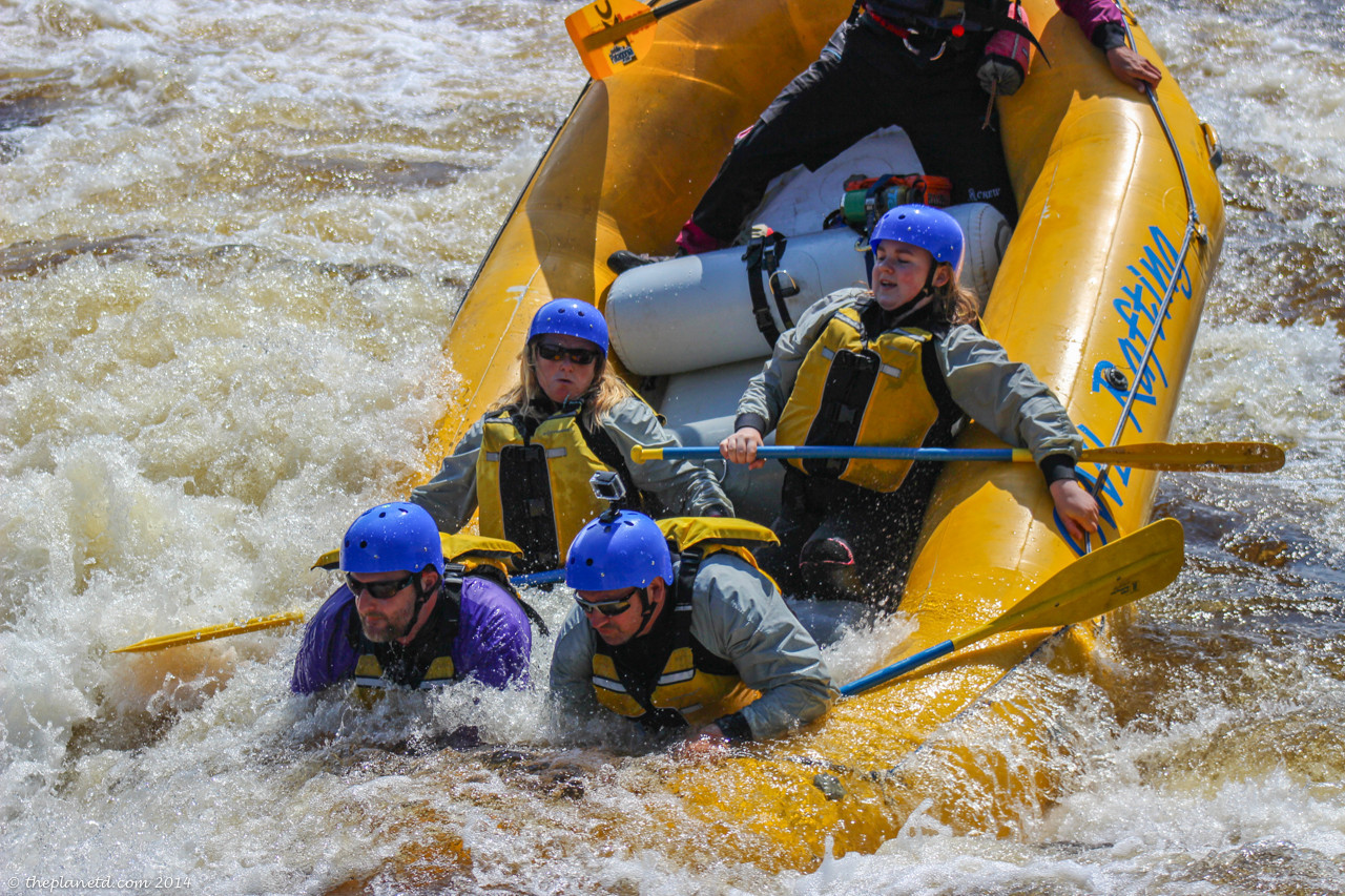 surfing while whitewater rafting ottawa river