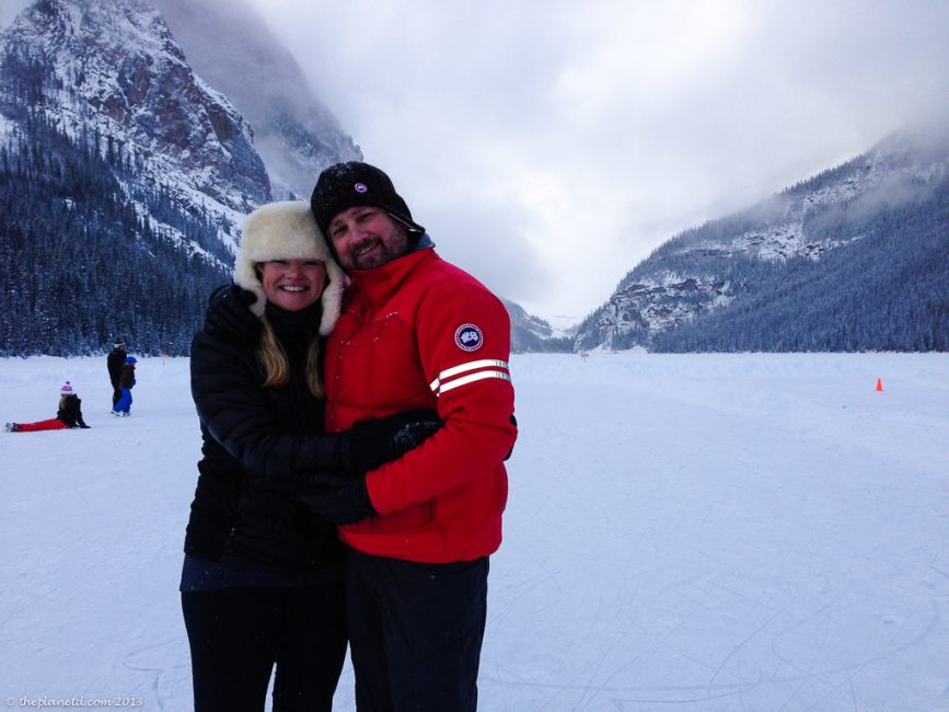 Dave and Deb on Lake Louise