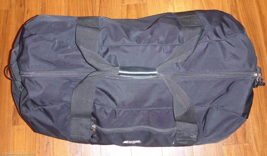 winter pack tips, duffel bag