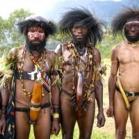 papua new guinea tribal men